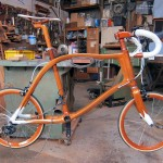 SANOMAGIC Wooden Bicycle, Mahogany Mini Wheel Bike
