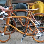 SANOMAGIC Wooden Bicycle, Mahogany Mini Wheel Bike_1