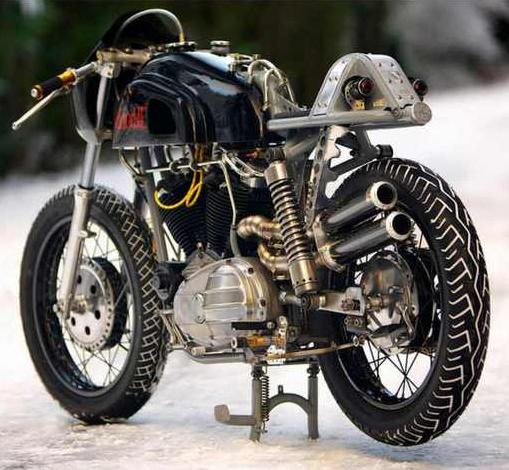 The Brothers Bjorklund Create Amazing Hot Bike Made from Junk, 1966 Harley Davidson 2