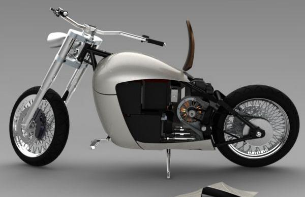 Cool and Classic Electric Motorcycle 2