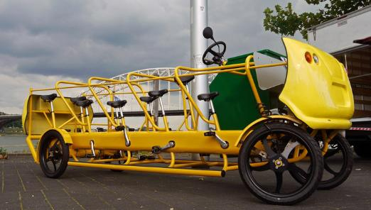 Eco friendly and Fun Pedal powered School Bus
