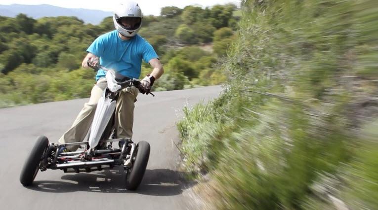 Sway Tilting Three wheel e scooter Prototype 2