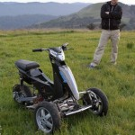 Sway Tilting Three wheel e scooter Prototype