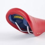 Red Leather Bike Saddle