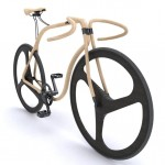 Elegant Bicycle Crafted from Bent Beech Wood_1