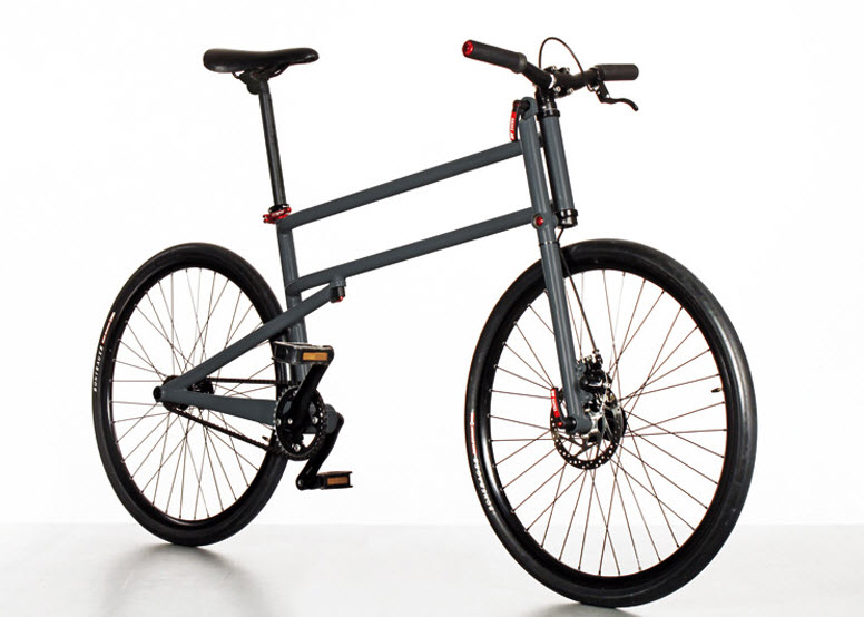 Simple Folding Bike With Full Size Wheels by Mikulas Novotny