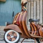Wooden Vespa, more Classic, more Classy