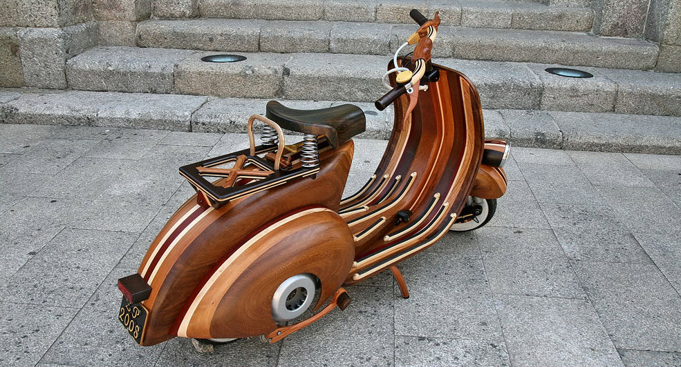 Wooden Vespa, more Classic, more Classy 1