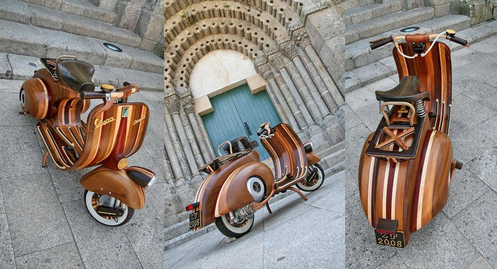 Wooden Vespa, more Classic, more Classy 2