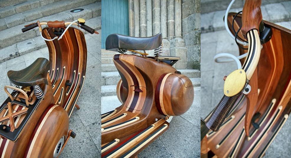 Wooden Vespa, more Classic, more Classy 3