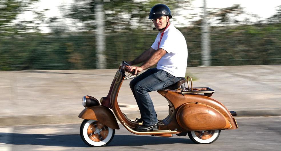 Wooden Vespa, more Classic, more Classy 7