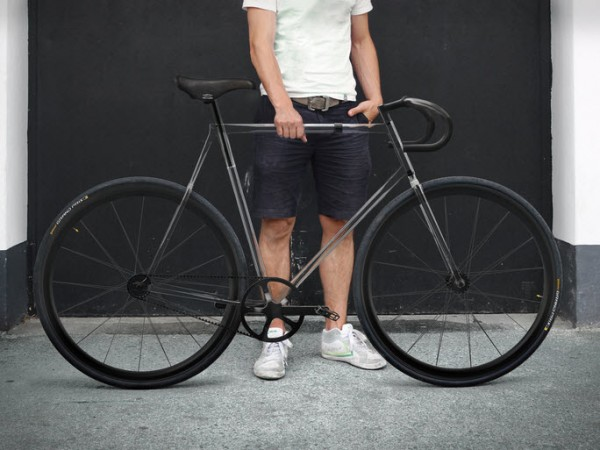The Clarity Bike with Transparent Frame