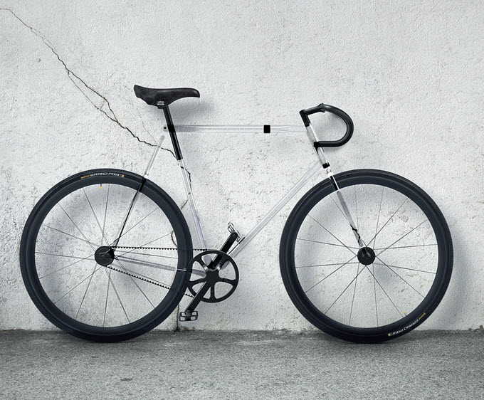 The Clarity Bike with Transparent Frame 1