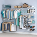 Closet with Rubbermaid Adjustable Mount Wire Shelving
