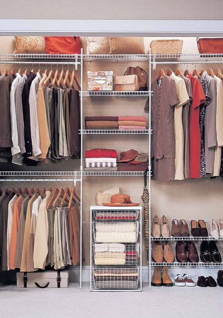 Closet with Wire Shelving Idea