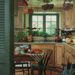 Natural Warm Kitchen with Pine Cabinetry