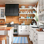 Natural Warm Kitchen with Pine Walls_1