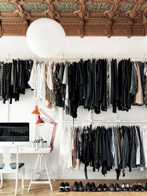 Scandinavian Modern Walk in Closet