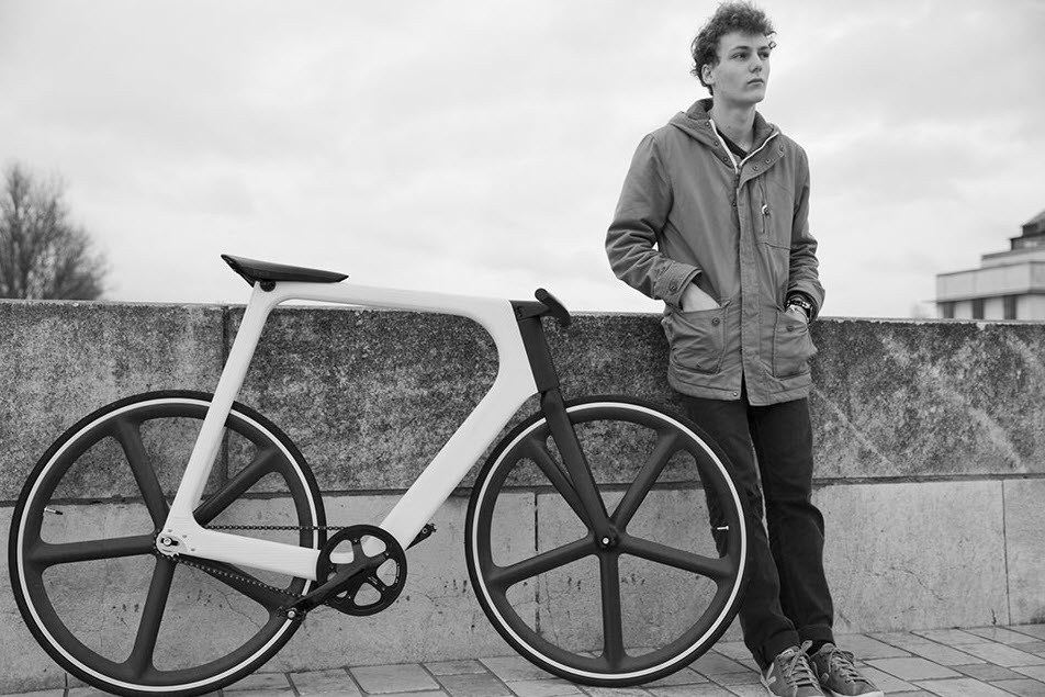 Keim Arvak Wooden Bicycle Black and White