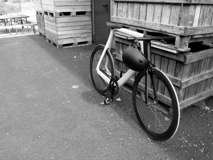 Keim Arvak Wooden Bicycle Black and White 1