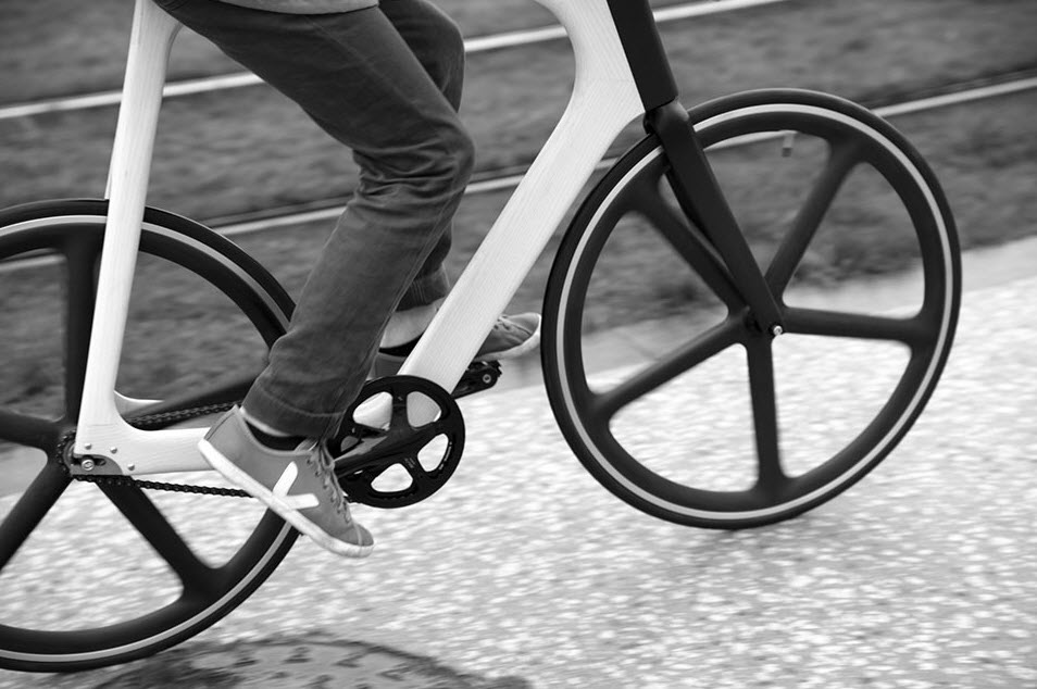 Keim Arvak Wooden Bicycle Black and White 2
