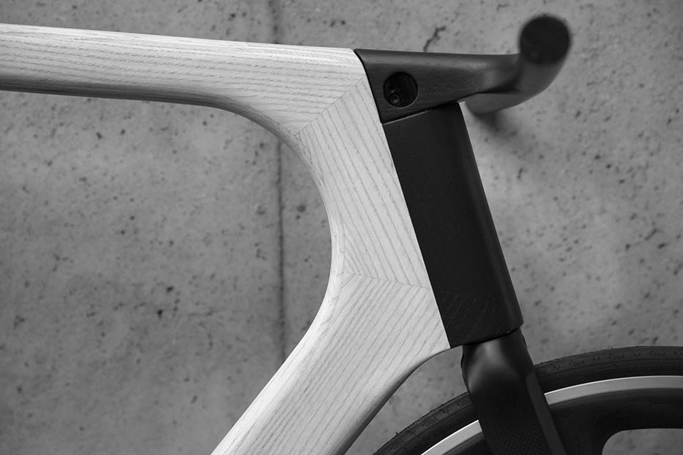 Keim Arvak Wooden Bicycle Black and White 6
