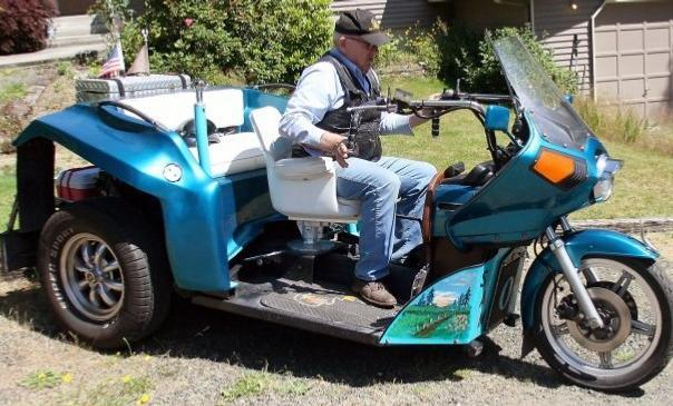 3 wheeled motorcycle From Recycled Auto Parts
