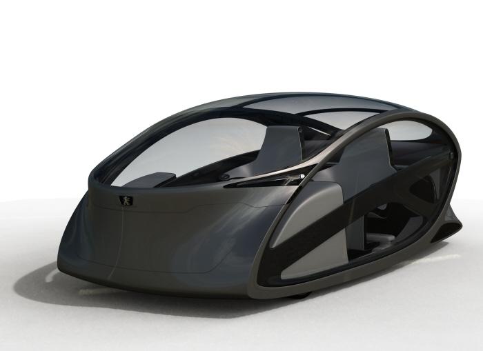 Peugeot Metromorph Futuristic Car Concept Work as an Elevator, or A Balcony